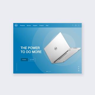 Dell website design