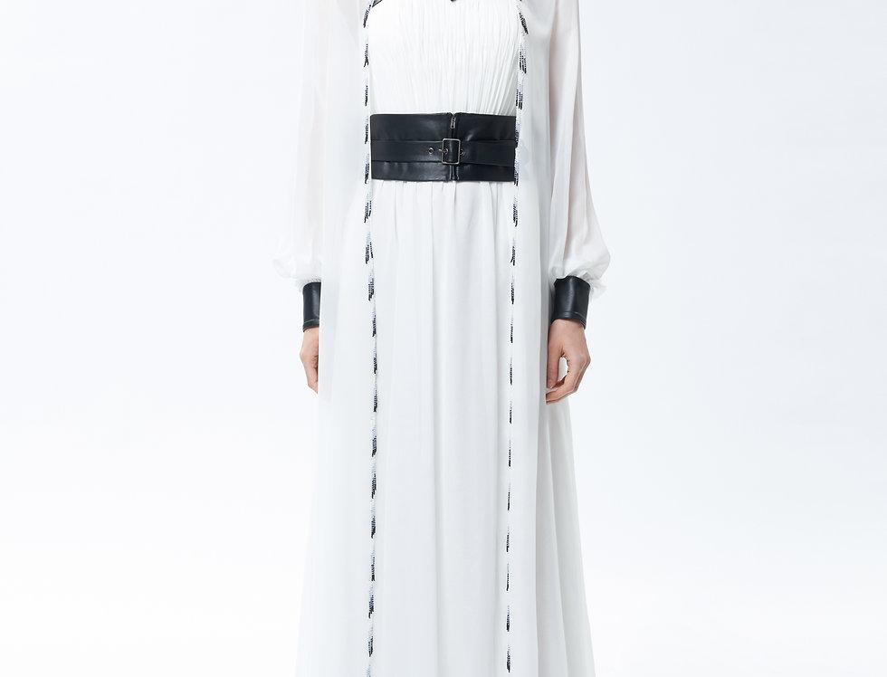 Thetis White  Chiffon Gown