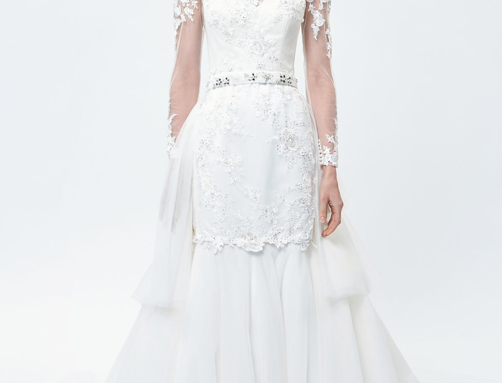Freesia Lace Long Sleeve Wedding Dress