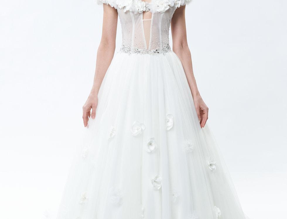Magnolia Hand-made Floral Dress