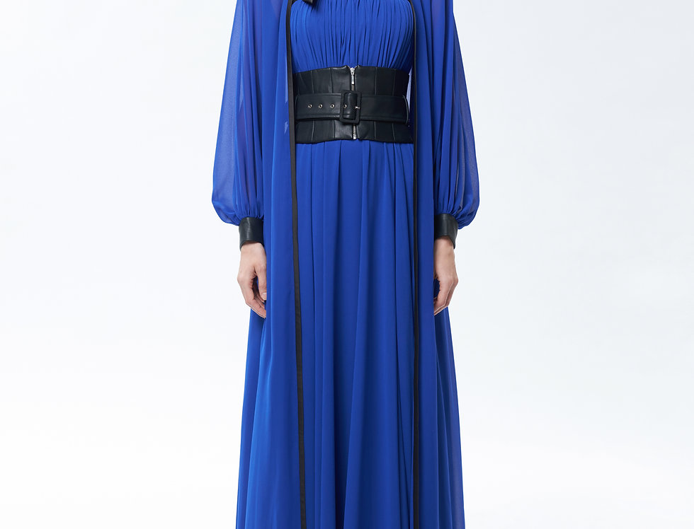 Thetis Royal Blue  Chiffon Gown