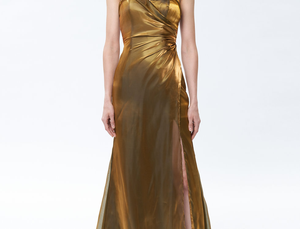 Iris Backless Golden Gown