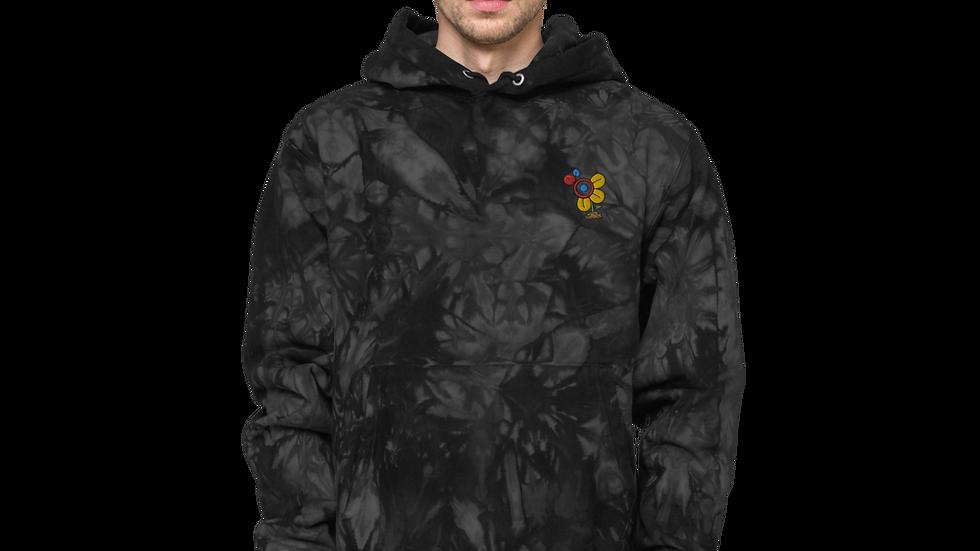 Danny STL Artist x Champion tie-dye hoodie