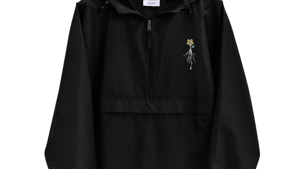 ROOTS AND PETALS Embroidered Champion Packable Jacket