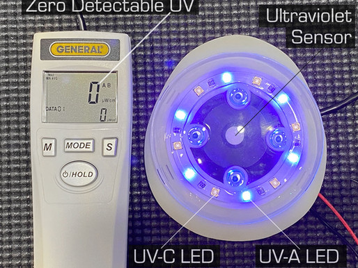 Is the A.I.R. device user exposed to UV light?