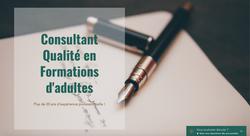 Consultant Qualité en Formations