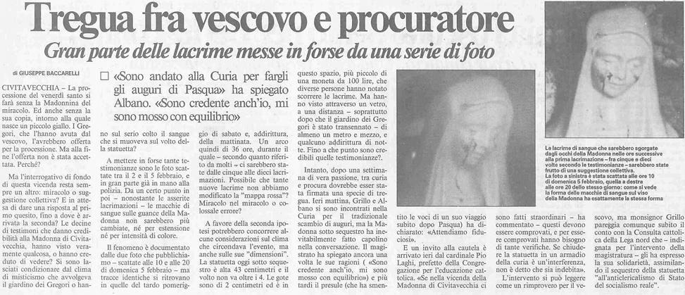 Messaggero, 13 aprile 1995