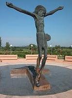 Statua del Cristo Risorto a Medjugorje.J