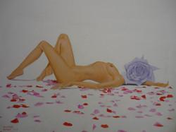 femme fleur (rose) Sylvain Thomas