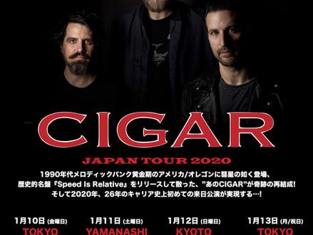 Cigar (シガー) 2020年1月来日決定!