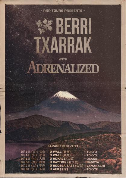 Adrenalized & Berri Txarrak Japan Tour 2019 9月開催決定!