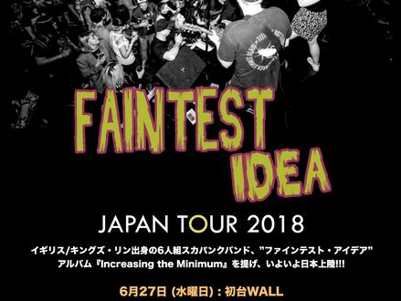 Faintest Idea (UK) Japan Tour 2018 6月開催決定!