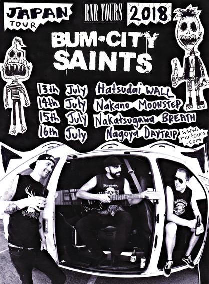 Bum City Saints (アメリカ) Japan Tour 7月開催決定!