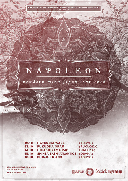 【10/12-10/16】Napoleon (UK) Japan Tour 2016