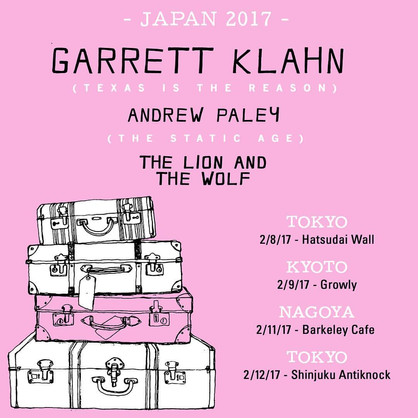 Garrett Klahn (Texas is the Reason) Japan Tour 2017年2月開催決定!