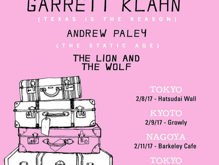 Garrett Klahn (Texas is the Reason) Japan Tour 2017年2月開催決定!