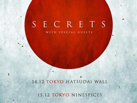 SECRETS (アメリカ) Japan Tour 12月開催決定!