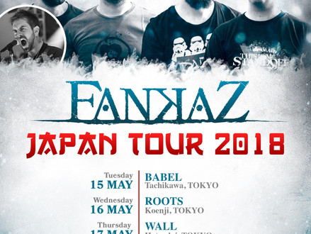 Fankaz (イタリア) Japan Tour 2018 5月開催決定!
