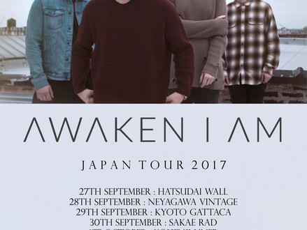 Awaken I Am (Australia) Japan Tour 2017 9月/10月開催決定!