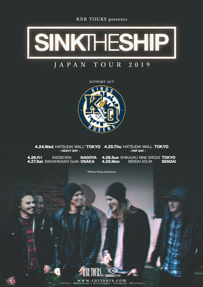 Sink The Ship (アメリカ、オハイオ州) Japan Tour 2019 4月開催決定!
