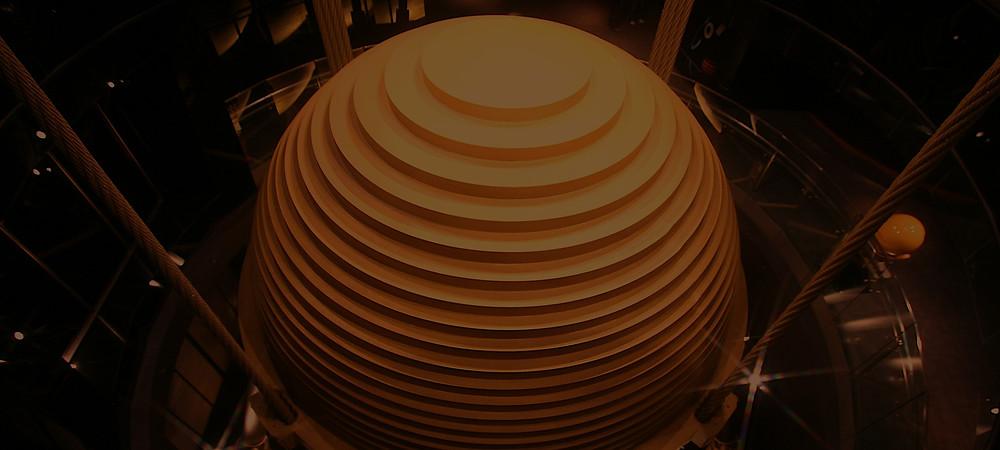 Taipei 101 pendulum damper viewed from above