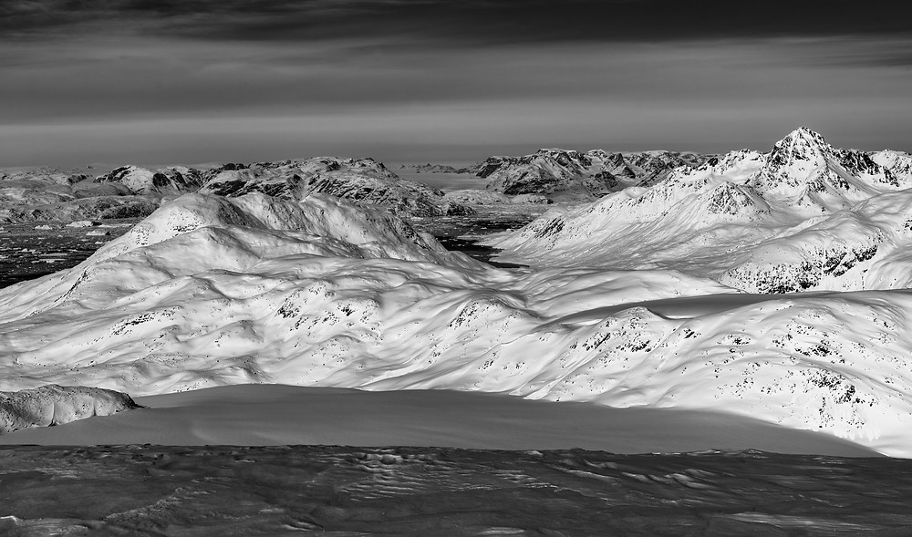 Expansive view of Greenland