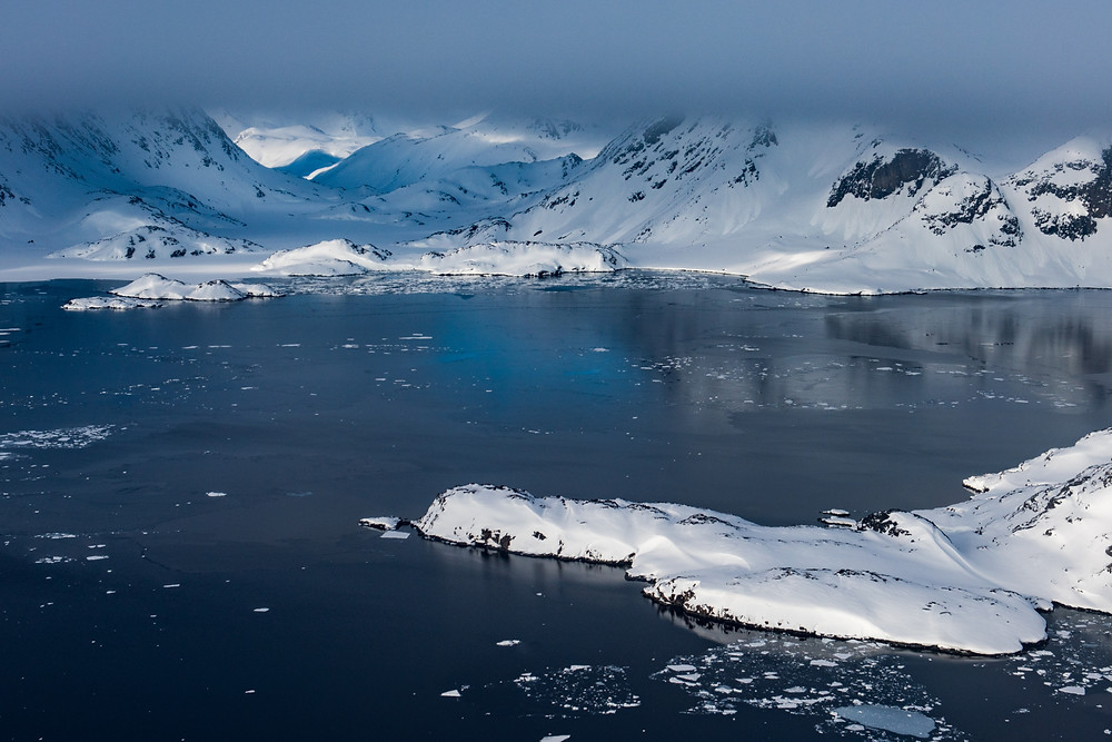 Eastern Greenland Fjords from the air