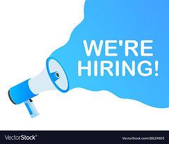 were-hiring-web-banner-megaphone-with-we