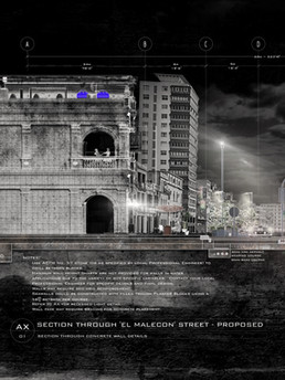 El Malecon: Street Section