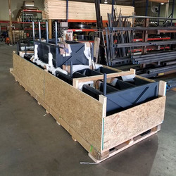 1200lb crate of rooftop bar headed to Sa