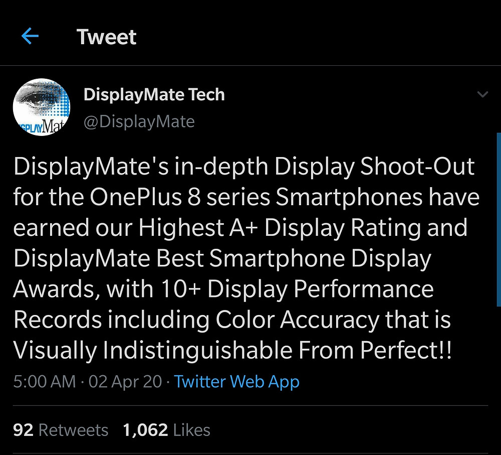 Display Mate On OnePlus 8
