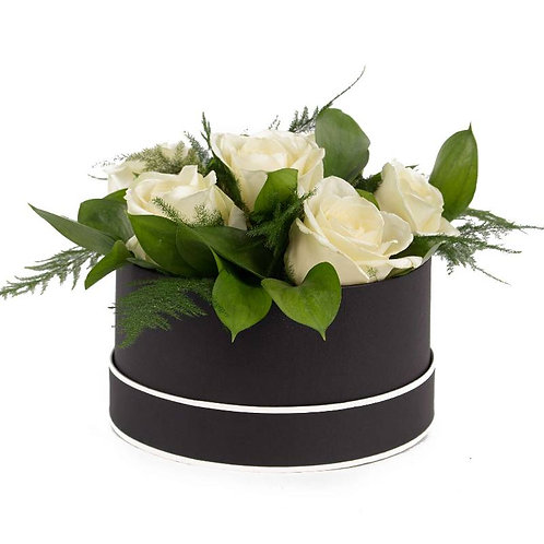 White Rose Hat Box