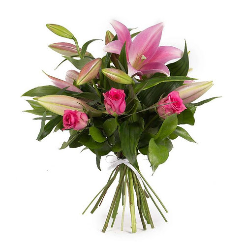 Pink Roses & Lilies Bouquet