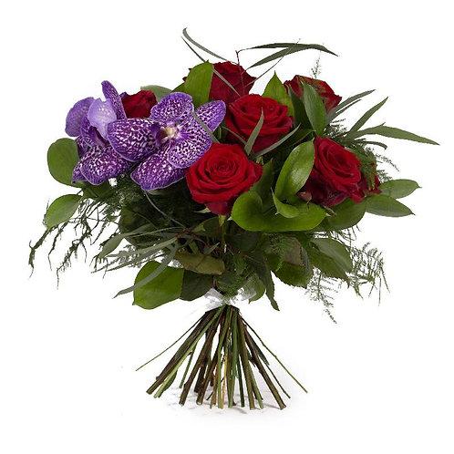 Red Rose & Vanda Bouquet
