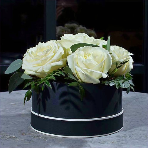 White Rose Hat Box