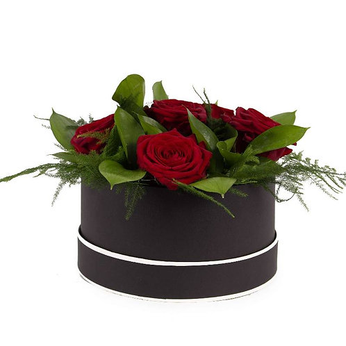 Red Rose Hat Box