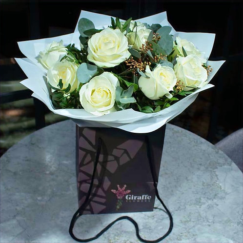 White Roses Bouquet (various sizes)