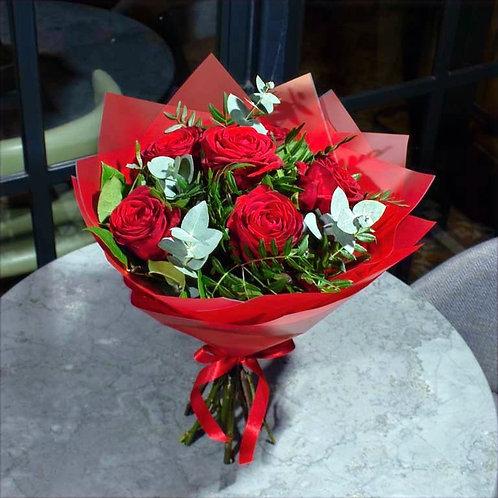Half Dozen Roses Bunch