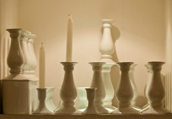 candle holders on display