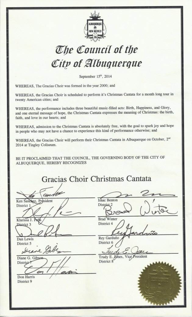 Christmas Cantata Tour