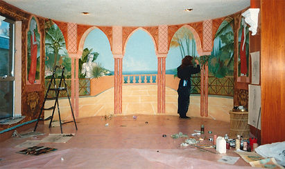 Virginia Colley. Mural painting.