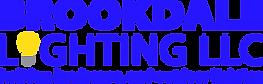 BROOKDALE LIGHTING BLUE LOGO, YELLOW BULB (1).png