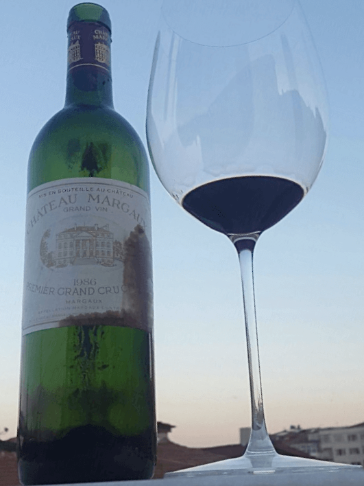 wine şarap chateau margaux 1986 somelyer