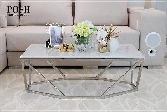 Diamond Coffee Table | White Carrara Marble