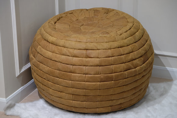 Nubuck Leather Bean Bag | Tortilla
