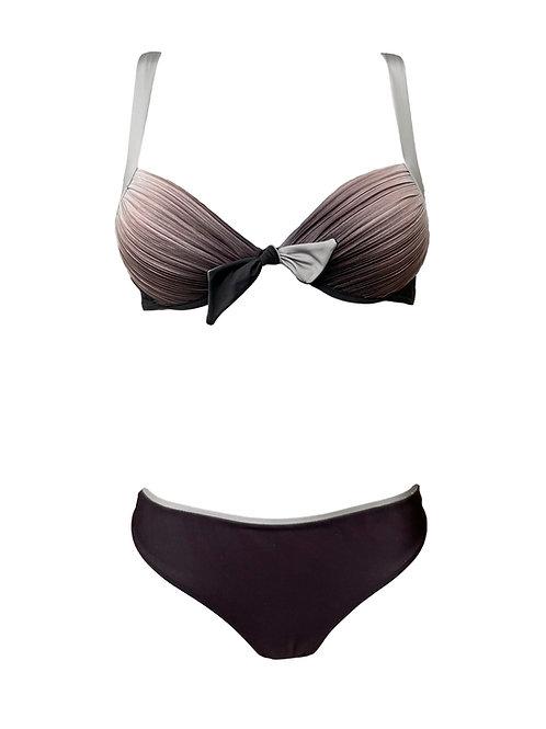 Bikini Push up Plisse Sfumato con slip