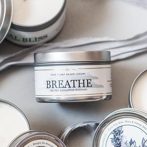 'Breathe' massage candle