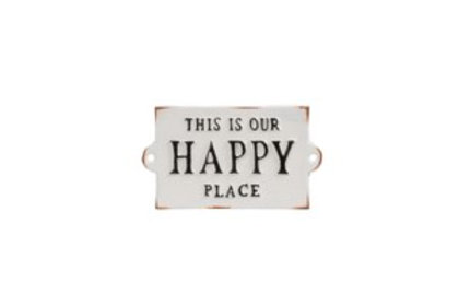 """""""This is our Happy Place"""" sign"""