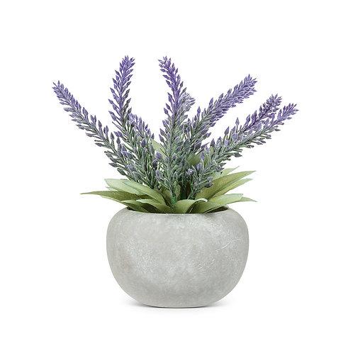 Artificial Lavender bunch in pot