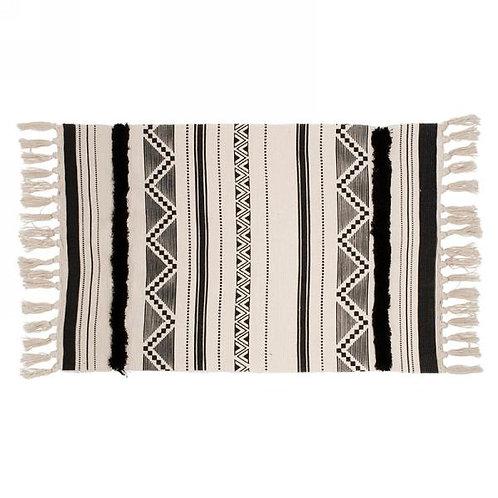 "Carpet - black & natural Aztek   40"" x 24"""